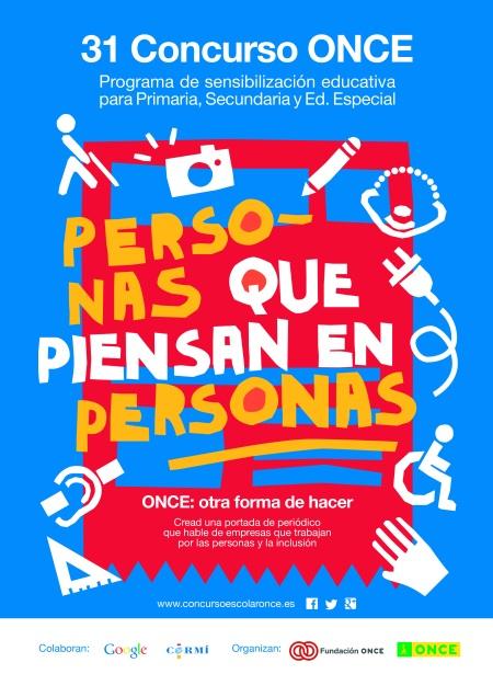 Cartel 31 Concurso Escolar ONCE y su Fundación II